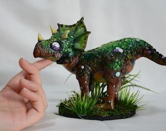Triceratops Dinosaur - handmade and unique