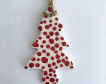 Christmas Tree Decoration. Porcelain. Festive decoration. Christmas Tree Decoration. Handmade Christmas Decoration. Christmas Tree. Tree