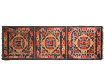 2 x 6 Antique Chinese Hand-Knotted Rug Runner 021370