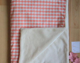 Great cover baby / coverage pink and white / white polar blanket / gift