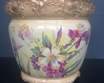 Antique Royal Bonn Porcelain Planter