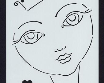 Girl Stencil (Girl 002)