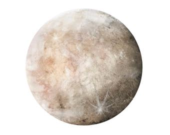 Dreamy Blushin' Moon, Art Print, Moon Art, Home Decor, Boho Art, Space,