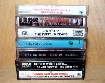 Vintage Folk Cassette Tapes from 60's to 90'S