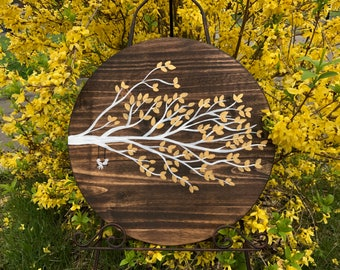 Love Birds - Tree Wedding Check-in / Leaf Sign-in