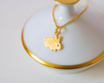 Gold-plated Bunny necklace