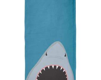 Summer Shark Attack Teeth All Over Beach Towel