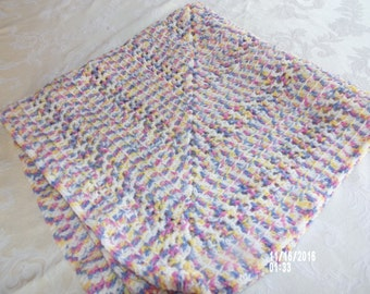 Crochet Baby Blanket - Handmade Measures approx. 33 inches by 33