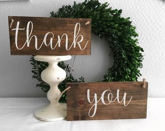 Thank You - Thank You Sign - Wedding Sign - Rustic Sign - Wood Sign - Thank you Card