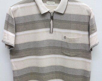 Vintage HUSH PUPPIES Brown Polos Shirt Size L