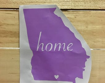 Customizeable Home State Decal