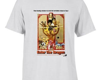 Enter the Dragon Bruce Lee Movie T Shirt by Ameiva Apparel