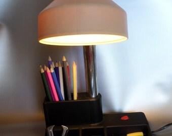 Vintage desk lamp * desk lamp * lampe tischlampe the Agency with storage system, 1970s