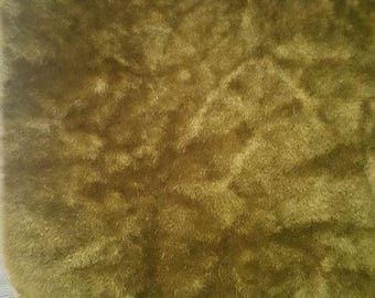 Flocked Upholstery Fabric-Malden Mills- Miniature teddy bear fabric- vintage velvet- miniatures- long pile-white grid backing-plush-crafts