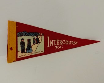 Intercourse, Pennsylvania - Vintage Pennant
