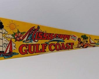 Mississippi Gulf Coast - Vintage Pennant