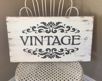 Vintage Sign, Farmhouse Sign, Rustic Sign, Distressed Sign, Fixer Upper Decor, Wall Decor