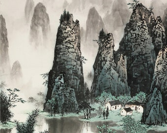 Chinese traditional landscape painting