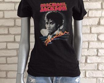 Rare 1984 vintage Michael Jackson Thriller Tshirt