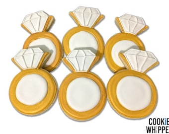 Bridal Shower Wedding Ring Cookies - 2 Dozen