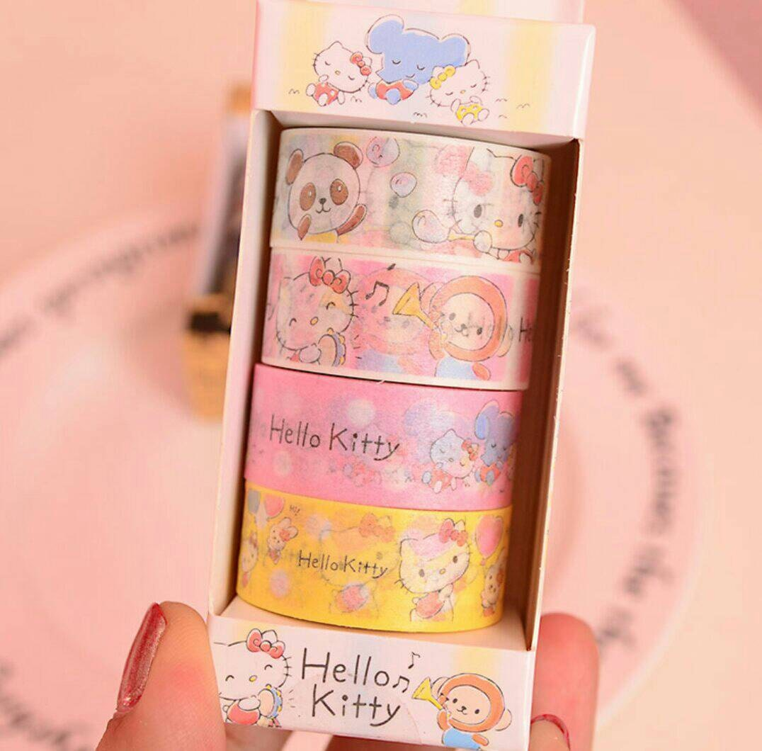 Design your own hello kitty t-shirt - 4 Rolls Of Hello Kitty Washi Tape Set Masking Tape Decorative Tape Diy Scrapbooking Planner Stickers Washi Tapes Set