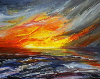 Sea Storm at Sunset| Limited Edition Number 2/100