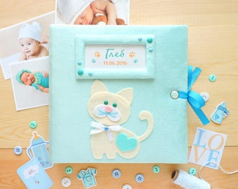 Baby Photo Album, Baby Memory Book, My first photo album, Personalized Baby Album, Scrapbook Album, Детский Альбом