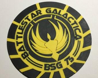 3D Printed Battlestar Galactica BSG-75 Coaster / Plaque