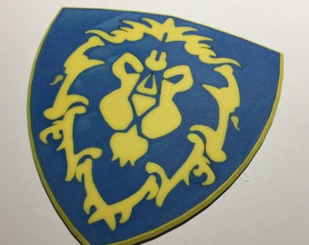 3D Printed World of Warcraft Alliance Shield Coaster / Plaque