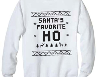 Santa's favorite ho sweater, santa sweater, christmas sweater