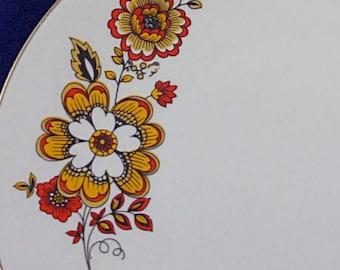 SALE Italian Plate Set Monopoli Porcellana D'Italia Side Plates- Raro 50s 6 plates Mid century tableware. Retro tableware. Vintage plate set
