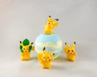 Pikachu Toy Surprise Pokebomb Bath Bomb. *1 Bath Bomb*