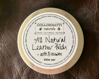 All Natural Non-Toxic Leather Conditoning Polish