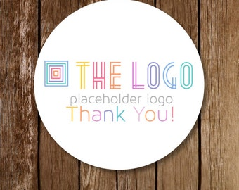 Thank You Stickers- 1.75 inches - 30 pieces