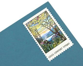 20 Unused Louis Comfort Tiffany Stamps - 41c - 2007 - Unused Postage - Magnolias and Irises - Quantity of 20