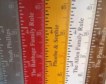 Handmade height chart ruler
