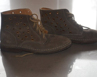 Code FOREVER15: 15% + reduced SHIPPING! Grey suede and rivets J.Crew boots 7 1/2 *.