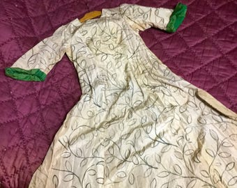 Silk french theater dress 1949