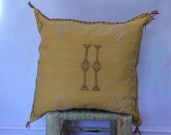 Saber Silk Cushion-mellow yellow