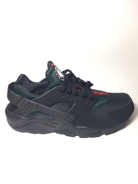 958d4d2739cb Custom Black Nike GUCCI Huaraches Gucci by EnterpriseClothing best ...