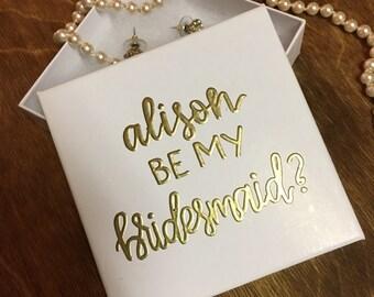 Personalized Gift Box | Personalized Jewelry Box | Bridesmaid Jewelry Box | Bridesmaid Proposal | Custom Gift Box | Bridesmaid Gift