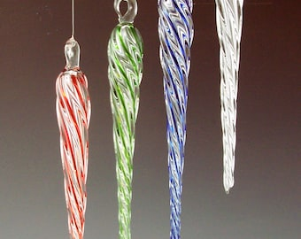 Glass Icicle - Ornament