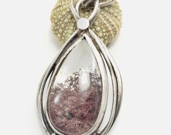 Lodolite for lodolite silver quartz solid 925 thousandth silver quartz pendant sterling unique