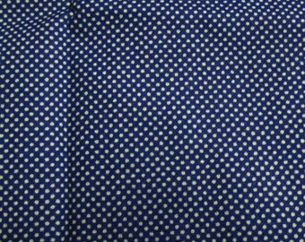 Blue with white spot cotton fabric