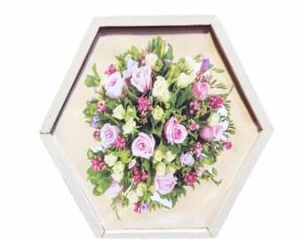 "Keepsake ""Bouquet of Pink Roses"" Wood Box"