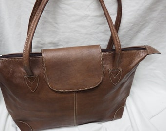 Authentic Moroccan bag /genuine leather /brown leather