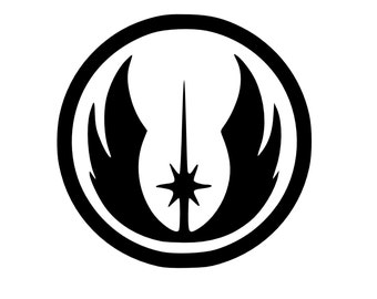 Jedi Decal - Star Wars Decal - Star Wars Jedi - Car Decal - Bumper Stiicker