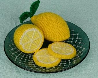 Lemon toy, Crochet lemon, Amigurumi lemon, Soft toy fruit, Plush lemon, Amigurumi fruit, Crochet fruit, Stuffed lemon toy, Citrus decor.