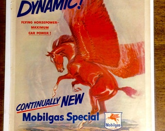 Free Shipping! 1950 Mobil Gas Life Magazine Advertisement