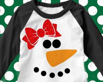 Girl Snowman face svg, kids christmas svg, reindeer svg, Snowman svg, dxf, Christmas SVG, DXF, EPS,elf svg, snowman cut file, funny svg